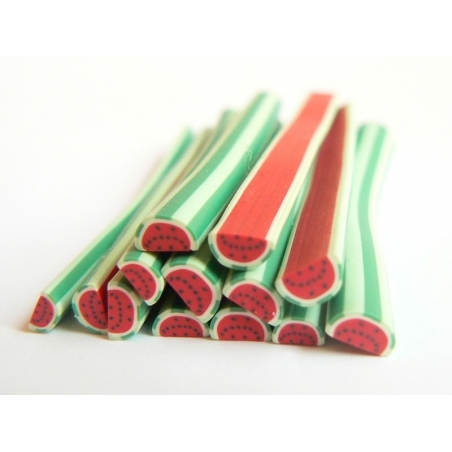 Watermelon cane - striped watermelon slice