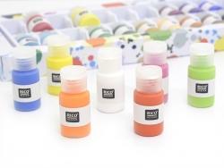 Super Pack de 24 mini-pots de peinture - Acrylique