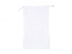 White fabric pouch with handles - 27 cm x 45 cm
