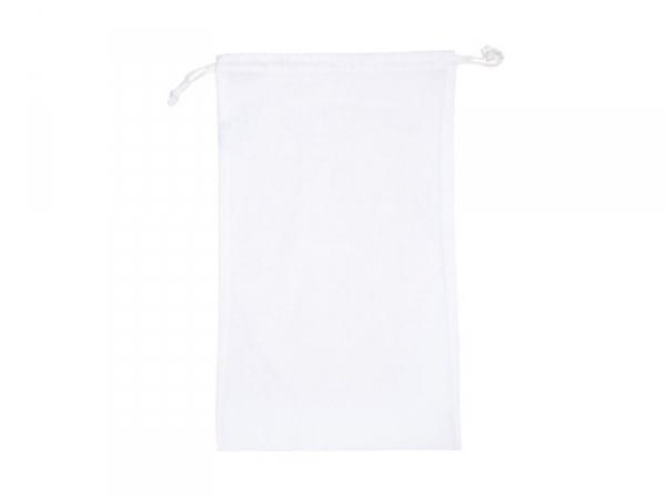 Acheter Sac avec cordelettes en tissu blanc - 27 x 45 cm - 4,15€ en ligne sur La Petite Epicerie - Loisirs créatifs