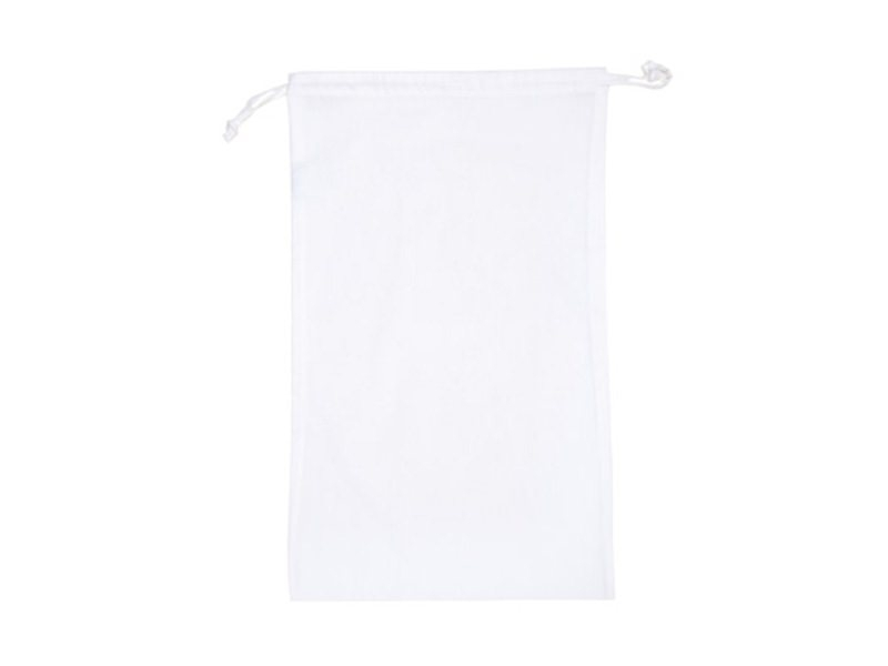 Acheter Sac avec cordelettes en tissu blanc - 27 x 45 cm - 4,15€ en ligne sur La Petite Epicerie - 100% Loisirs créatifs