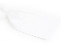 Sac avec cordelettes en tissu blanc - 27 x 45 cm