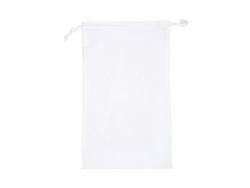 Sac avec cordelettes en tissu blanc - 10 x 15 cm