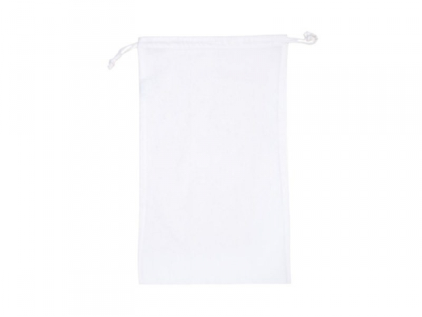 White fabric pouch with handles - 10 cm x 15 cm