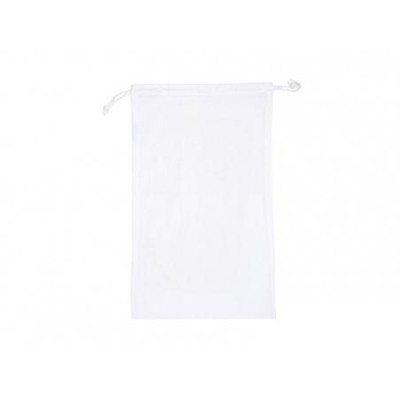 Acheter Sac avec cordelettes en tissu blanc - 10 x 15 cm - 1,69€ en ligne sur La Petite Epicerie - 100% Loisirs créatifs