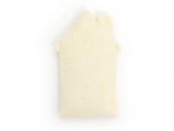 Customisable cuddly toy - House (13.5 cm x 8.5 cm x 3 cm)