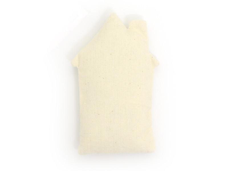 Doudou en tissu à customiser - Maison 13,5 x 8,5 x 3 cm
