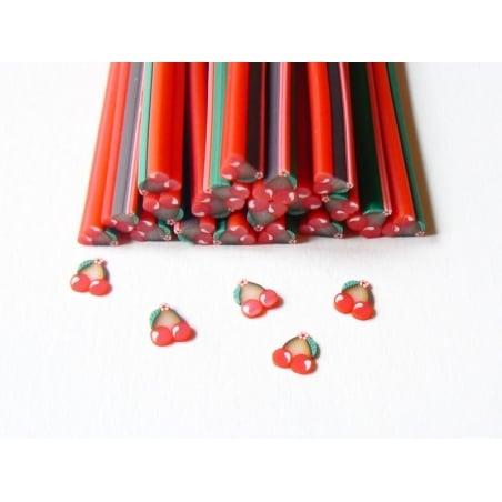 Acheter Cane cerises et fleur en pâte fimo  - 0,99€ en ligne sur La Petite Epicerie - Loisirs créatifs