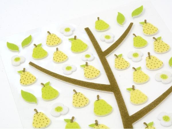 Felt stickers - pears