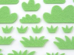 Felt stickers - Grass - 2 sheets