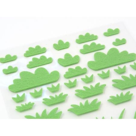 Acheter Stickers en feutrine - Pelouse - 2 planches - 2,29€ en ligne sur La Petite Epicerie - 100% Loisirs créatifs