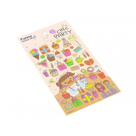 Acheter Stickers Chic Party - 2,29€ en ligne sur La Petite Epicerie - Loisirs créatifs