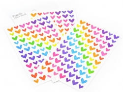 Sticker - Herzen mit Hologrammen - 4 Bögen