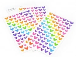Stickers Coeurs Hologrammes - 4 planches  - 1