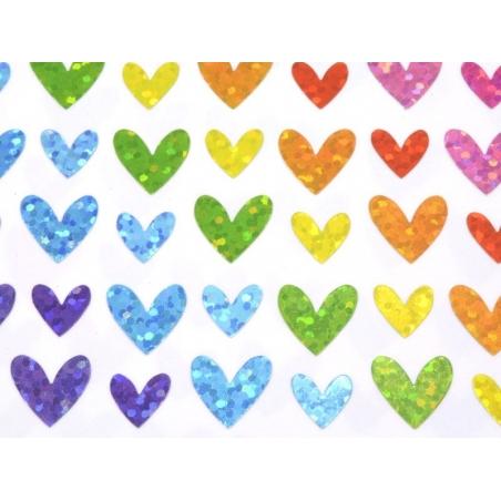 Acheter Stickers Coeurs Hologrammes - 4 planches - 2,29€ en ligne sur La Petite Epicerie - Loisirs créatifs