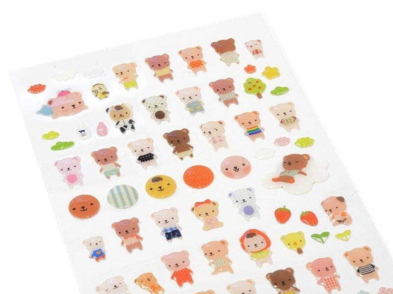 Baby teddy stickers