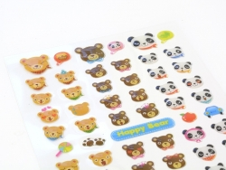 Cute teddy stickers