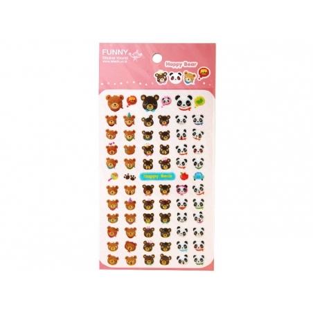 Cute teddy stickers