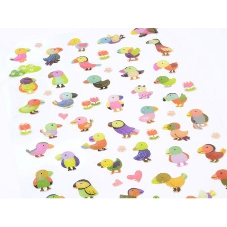 Colourful parrots stickers