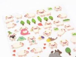 Stickers adorables moutons