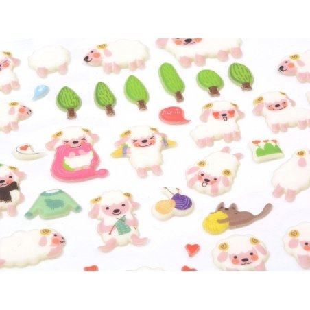 Adorable sheep stickers