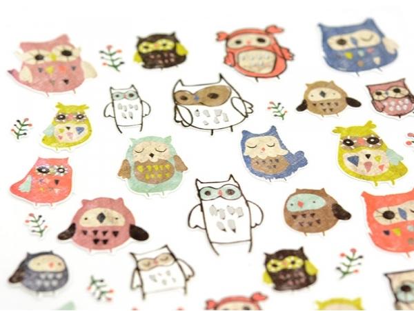 Acheter Stickers chouette / hiboux - 2,29€ en ligne sur La Petite Epicerie - Loisirs créatifs