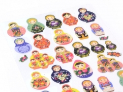 Beautiful matrioshkas stickers