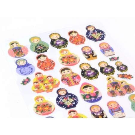 Acheter Stickers belles matrioshkas - 2,29€ en ligne sur La Petite Epicerie - Loisirs créatifs