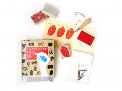 """""""Carve-a-stamp-kit"""" - Kit zur Anfertigung von Stempeln"""
