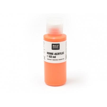 Peinture acrylique Rouge fluo - 82 ml