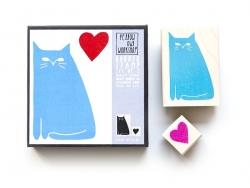 Katzenstempel + Herzstempel