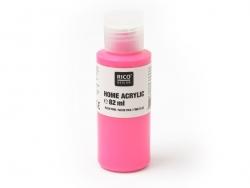Peinture acrylique Rose fluo - 82 ml