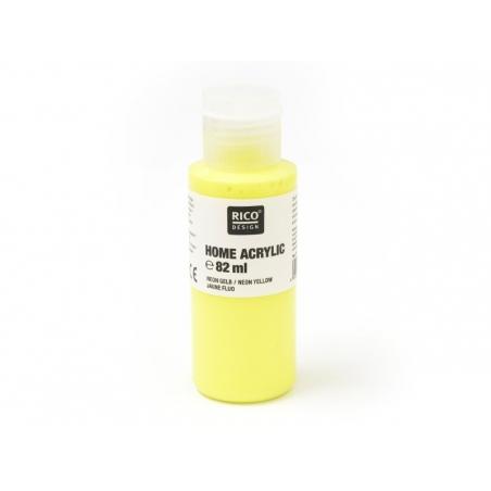 Acheter Peinture acrylique Jaune fluo - 82 ml - 5,60€ en ligne sur La Petite Epicerie - Loisirs créatifs