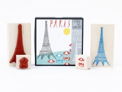 Paris: Eiffel Tower stamp + terrace stamp