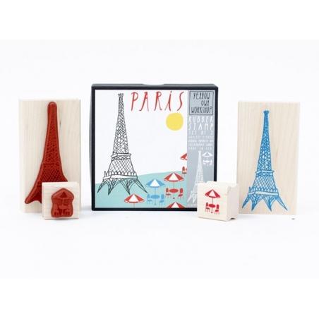 PARIS : Tampon Tour Eiffel + Tampon Terrasse