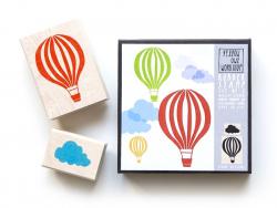 Hot-air balloon stamp + cloud stamp