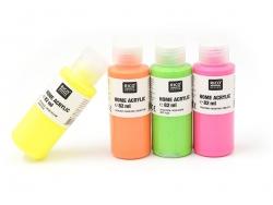 Peinture acrylique Jaune fluo - 82 ml