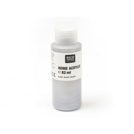 Peinture acrylique Argent - 82 ml