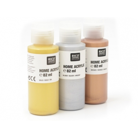 Gold-coloured acrylic paint - 82 ml