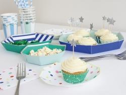 Set de 48 caissettes à cupcakes et 24 toppers étoiles - bleu, vert, argenté Meri Meri - 2