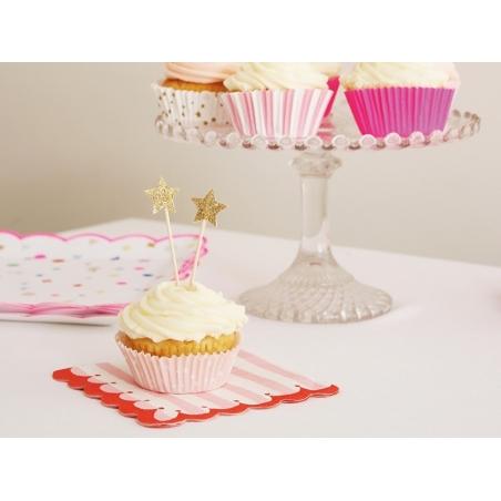 Acheter Set de 48 caissettes à cupcakes et 24 toppers étoiles - rose, orange, doré - 12,90€ en ligne sur La Petite Epicerie ...