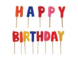 Kerzen - Happy Birthday