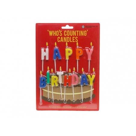 """Acheter Bougies """"HAPPY BIRTHDAY"""" - 5,70€ en ligne sur La Petite Epicerie - 100% Loisirs créatifs"""