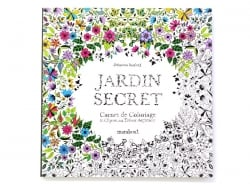"French book "" Jardins Secret, carnet de coloriage & chasse au trésor antistress"""