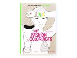 Livre My fashion coloriage - 100 pièces de mode à colorier