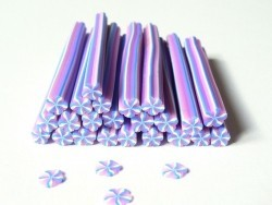 Cane bonbon à la violette en pâte fimo  - 1