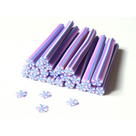 Cane bonbon à la violette en pâte fimo