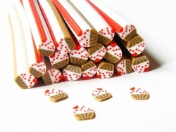 Small cupcake cane - with a heart