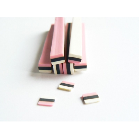 Candy cane - liquorice and almond paste, pastel-coloured