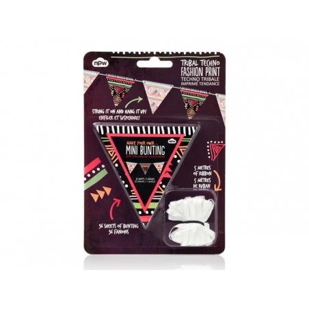 Guirlande fanions - imprimé tendance Techno tribale